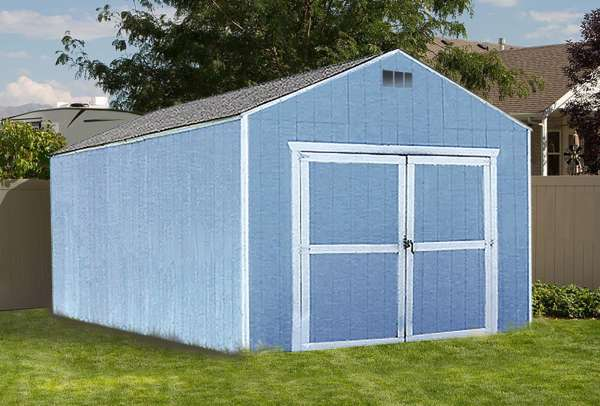 Sutherlands 12' x 20' YardStar Gable Shed package is a complete storage shed package that includes lumber, siding, roof shingles, hardware and more.