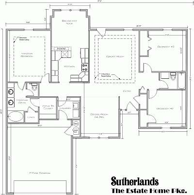 The Estate House Package Floor Plan