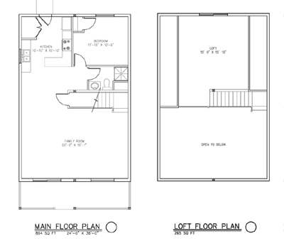 The Aspen Cabin House Package Floor Plan