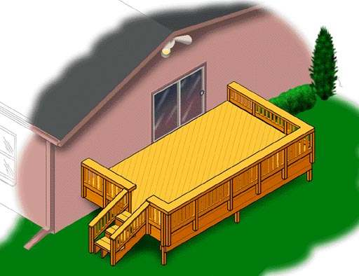 Build A 12 X 20 Attached Patio Deck Sutherlands