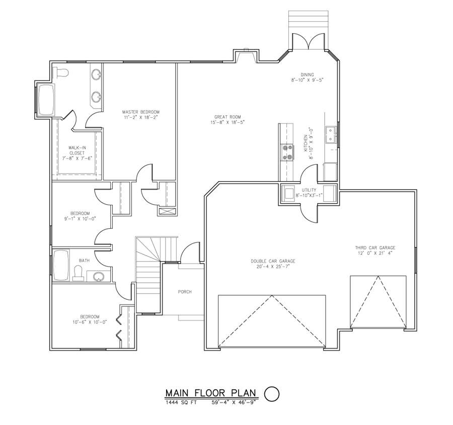 The brighton home package 3 bedroom 2 bath sutherlands for Sutherlands house plans