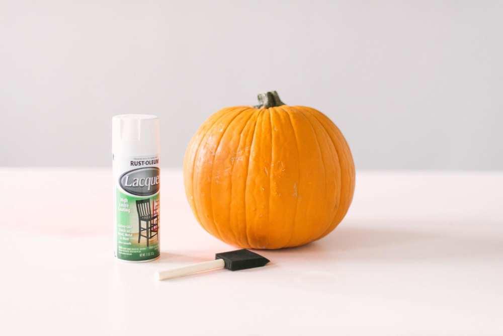 Ready to paint a pumpkin