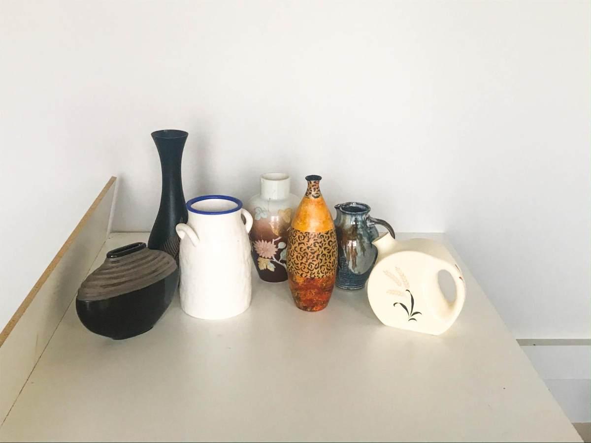 Unpainted vases