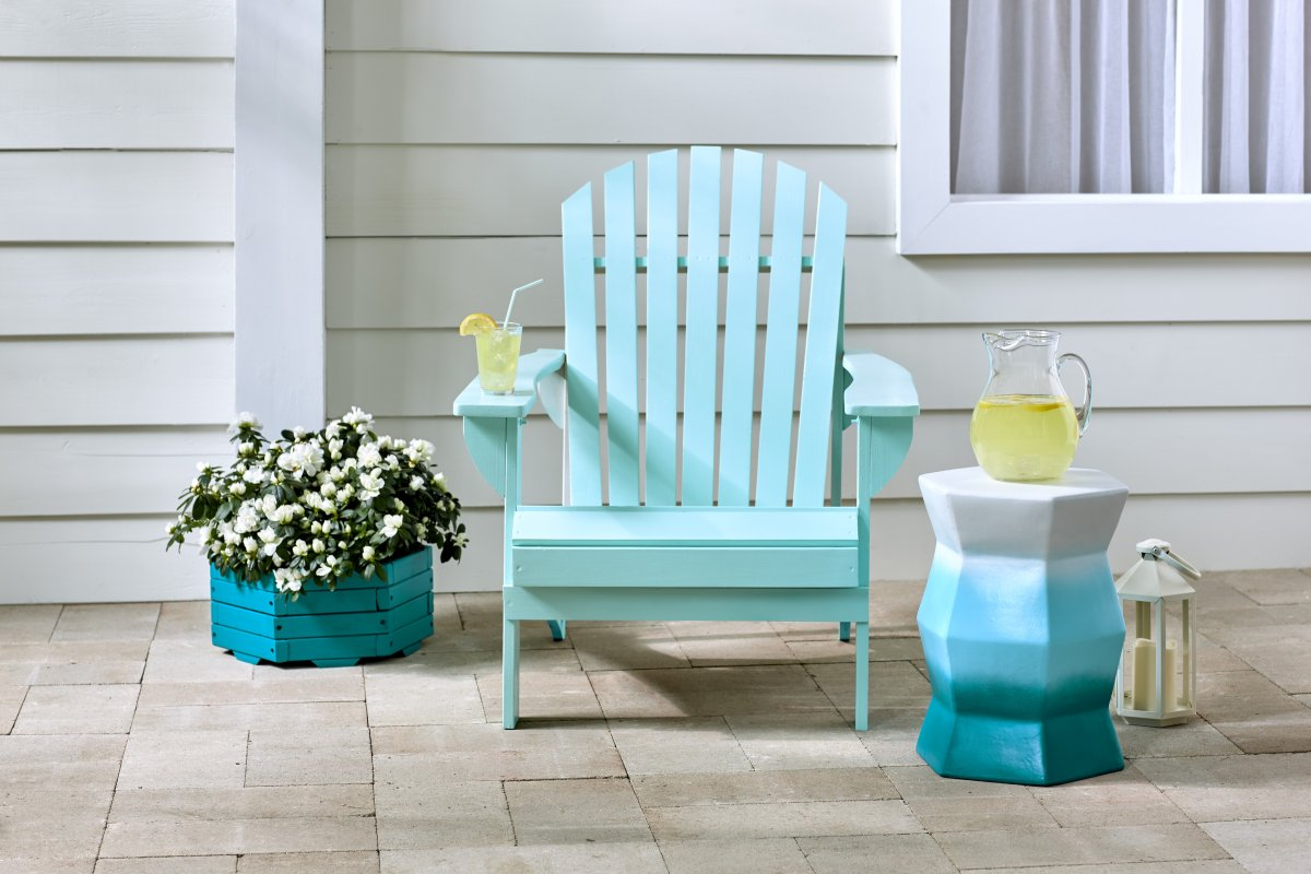 Adirondack chair spray painted with Painter's Touch 2X Ultra Cover