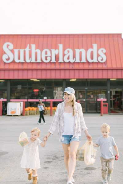 Katie Lamb and her twins shopping at Sutherlands