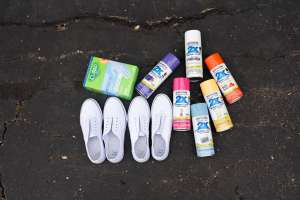 Photo: Hydro Dipping Plain White Sneakers