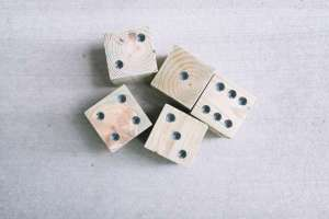 Photo: Make Yardzee Dice for Some Outside Fun