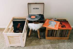 Photo: Build Your Own Vinyl Record Storage Crates
