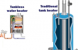 Photo: Tankless Versus Traditional Water Heaters: Pros and Cons