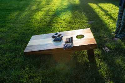 Photo: Build a set of Cornhole Game Boards