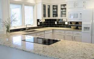 Stone and laminate countertops, backsplashes and accessories are available in different styles from Sutherlands.