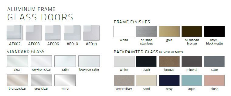 Aluminum Glass Door styles