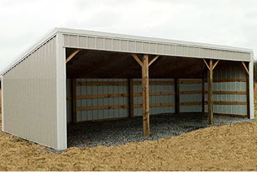 Use pole barn packages from Sutherlands to build a complete storage unit like the post frame garage packages built to your specifications.