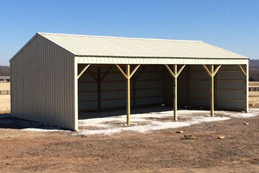 Sutherlands carries complete pole barn packages including a horse shed package with the parts and hardware & easy to follow instructions.