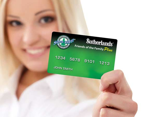 Sutherlands Credit Card