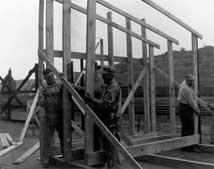 photograph of Sutherlands store being built