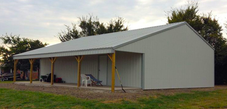 Deluxe post frame building packages pole barns sutherlands Sutherland garage