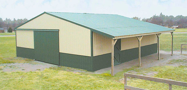 Sutherlands Complete Deluxe Suburban Horse Barn Packages