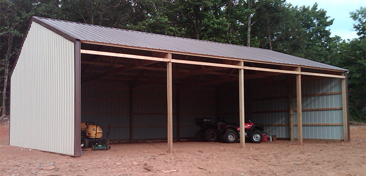 building barn post sutherlands thumb packages frame tradbarn traditional pole from barns sided package