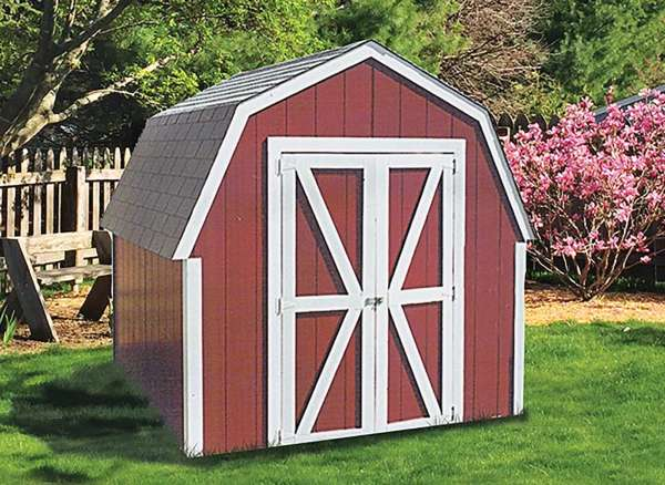 Get the YardStar deluxe mini barn package with all the lumber, siding, roofing and hardware you need to build a complete storage shed from Sutherlands.