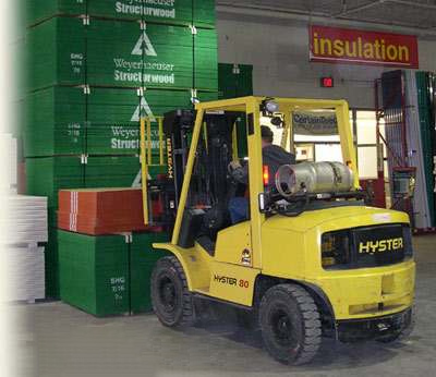 Photo: Sutherlands® Employee on a forklift.