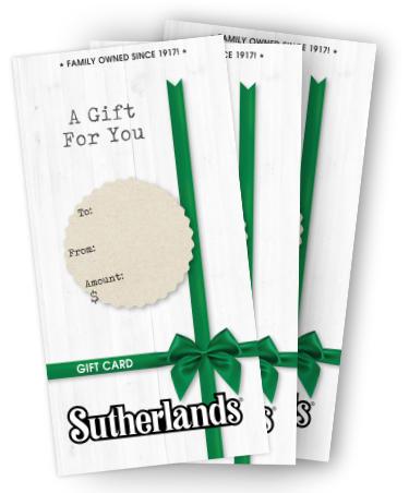 Sutherlands Gift Cards  sc 1 st  Sutherlands & Sutherlands Gift Cards - The Perfect Gift for any Occasion!