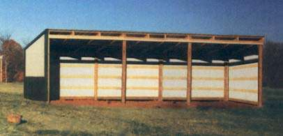 Sutherlands Complete Loafing Shed Packages Pole Barn Kits