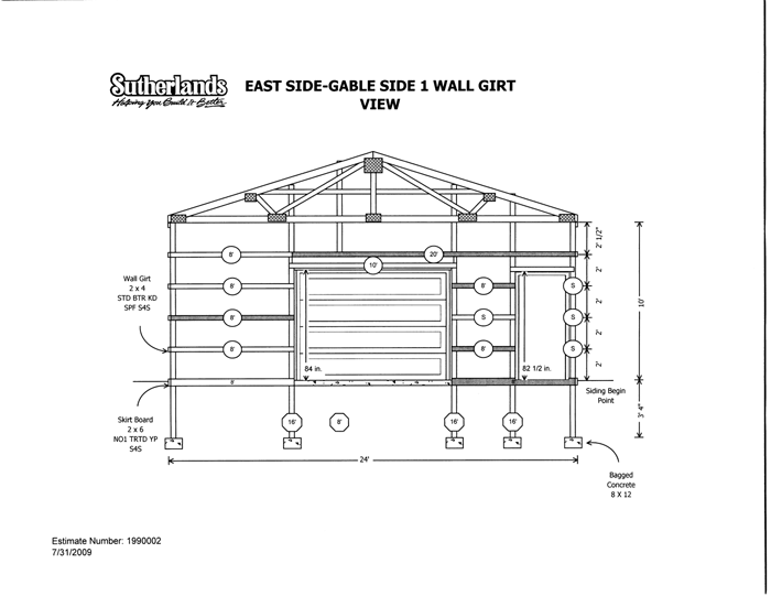 Included with our packages are for Post frame house plans