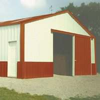 Sutherlands deluxe post frame barns are fully enclosed and the packages come with all the parts and hardware necessary.