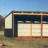 Loafing shed packages can be customized to your specification and come with all the lumber, roofing & hardware from Sutherlands.