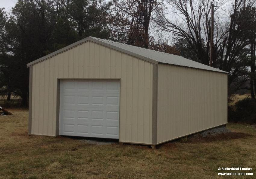 Sutherlands Garage Kits #39: 18x30x8ft Clay Roof And Ivory
