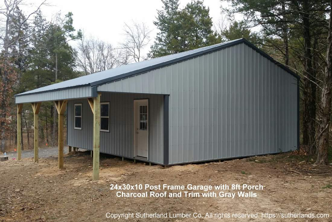 Customer project photo gallery pole barns for Garage with porch