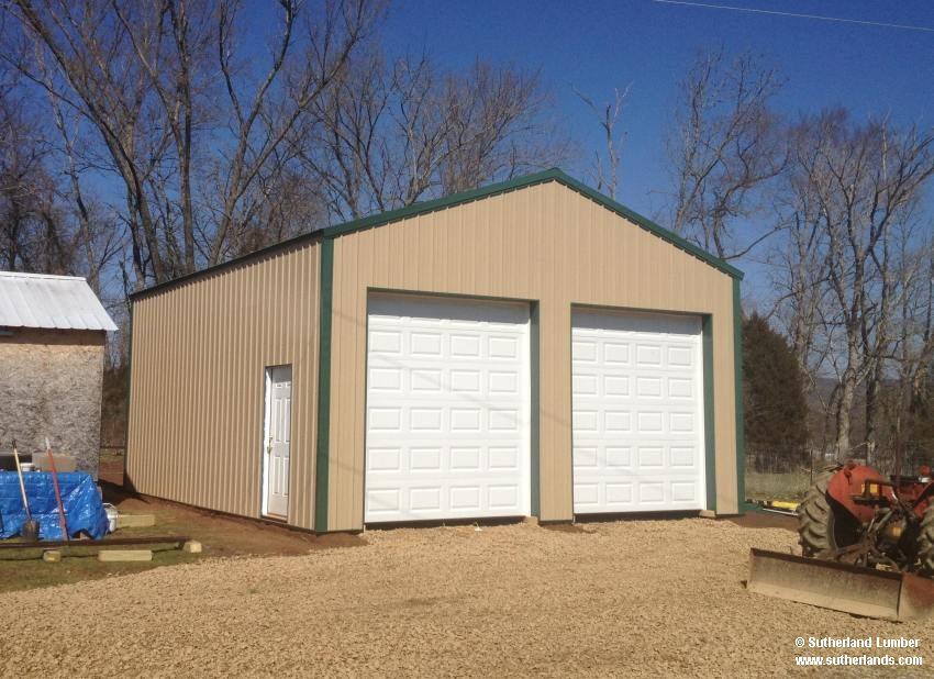 Marvelous Sutherlands Garage Kits #10: 24x30x12ft Post Frame Garage