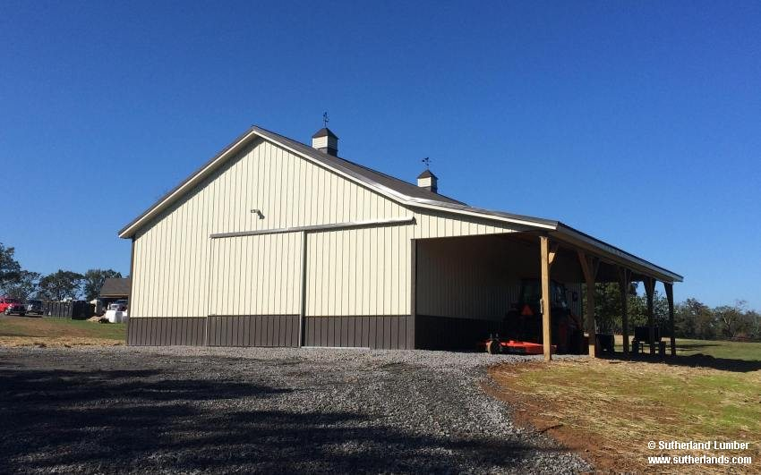 36x48x12 Horse Barn With 12ft Porch