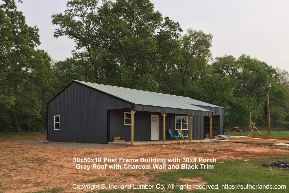 30x50x10 Post Frame Building : Customer project photo gallery pole barns