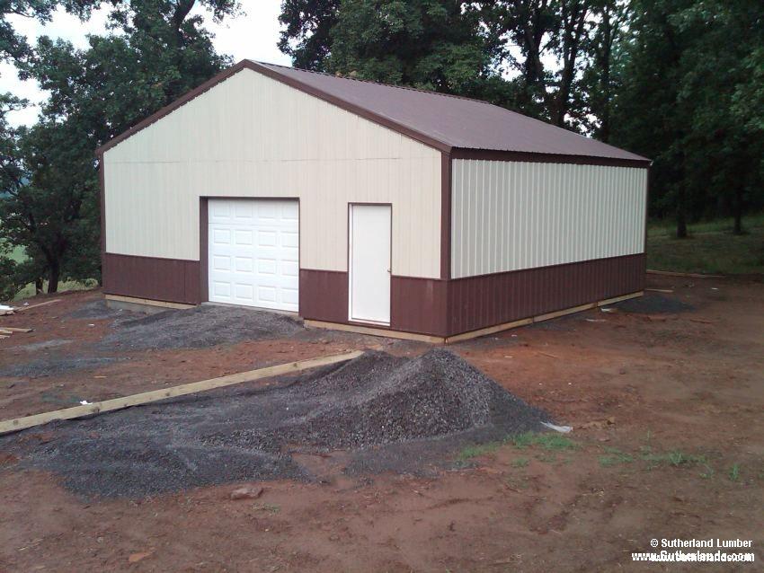 Sutherlands Garage Kits #28: 30x30x10 Post Frame Garage