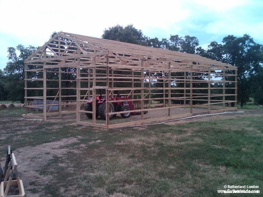Customer project photo gallery pole barns for Sutherlands building packages