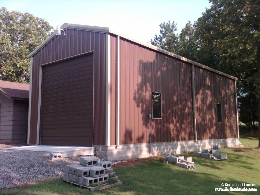 Sutherlands Garage Kits #40: 20x50x16 Post Frame RV Garage