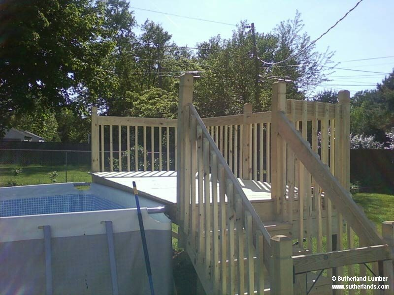 Customer project photo gallery decks gazebos for Sutherlands deck kits