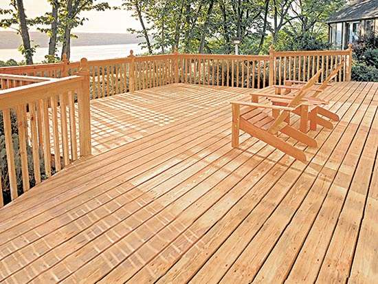 Wood Patio Deck Package