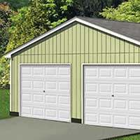 The Seneca Garage Package from Sutherlands is a complete garage package with the lumber, roofing, siding, hardware and more to build a complete garage.