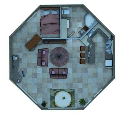 The Solargon Smart Cabin House Package Floor Plan