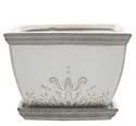 9-Inch White Brentwood Ceramic Planter