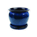 8-Inch Dripping Blue Wisteria Planter