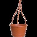 12-Inch Terra Cotta Dynamic Design Weave Hanging Basket