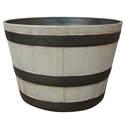 15.5-Inch Birchwood Whiskey Barrel Planter