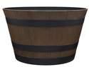 15-1/2-Inch Natural Oak Whiskey Barrel Planter