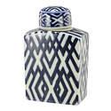 Carlyle Blue & White Lidded Jar