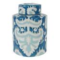 Anthony Venetuc Ceramic Blue Tribal Jar