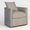 Landon Smokey Flax Occasional Swivel Chair